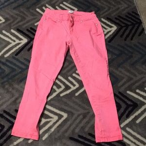 Crown and Ivy pink capris